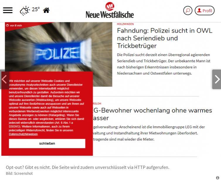 NW (Bielefeld) schafft es in de Parade der DSGVO-Absurditäten