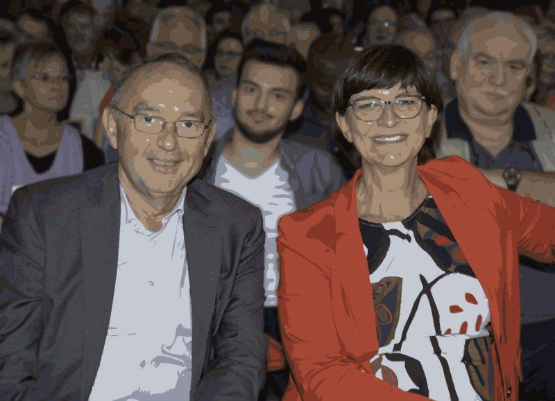 Neuerdings das Maß der Dinge bei der SPD: Norbert Walter-Borjans und Saskia Esken.